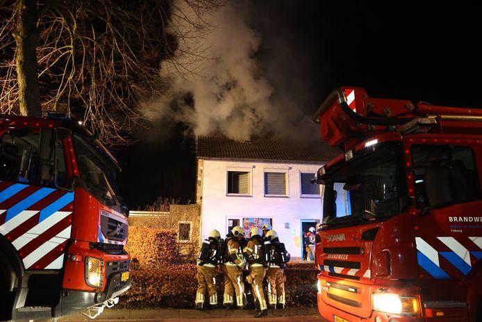 De oorzaak van de brand nog onbekend.