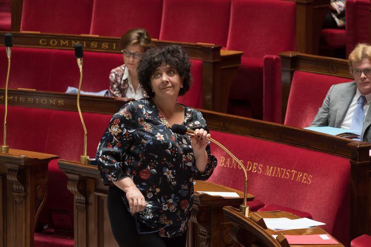 Frédérique Vidal, Frans minister van Hoger Onderwijs, wil politiek activisme beter in de gaten houden, zeshonderd academici eisen haar vertrek.   Beeld Photo News