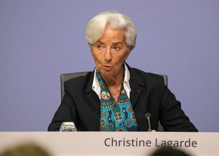 De nieuwe ECB-president Christine Lagarde.  Beeld EPA