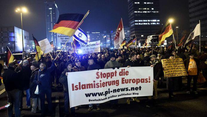 Pegida-demonstratie in Duitsland