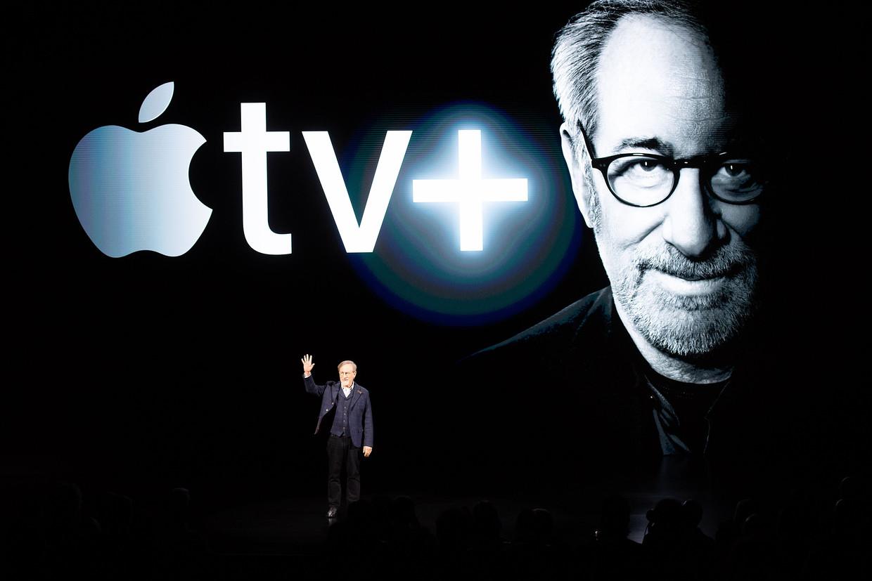 Onder meer regisseur Steven Spielberg zet mee zijn schouders onder Apple TV. Beeld AFP