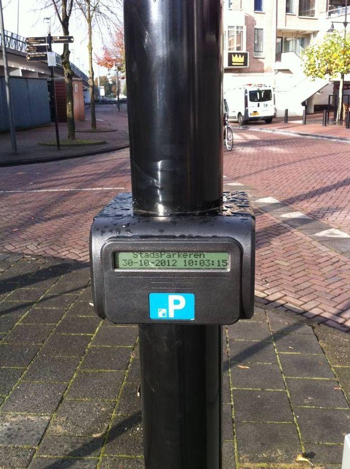 Scanner voor parkeerpas van Gepast Parkeren in Helmond.