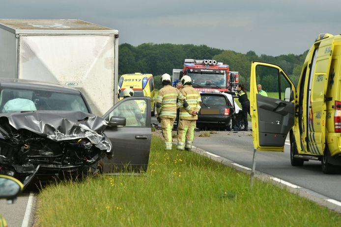 Ongeluk op de N229 bij Werkhoven