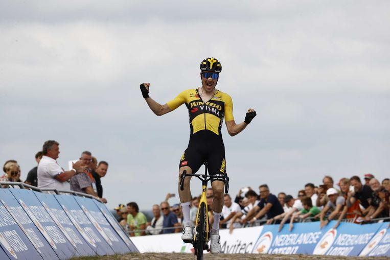 Wielrenner Timo Roosen pakt titel op NK. Beeld ANP