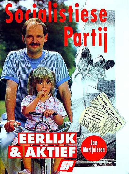 Lilian stond op haar vierde al eens op de verkiezingsposter van de SP, samen met vader Jan
