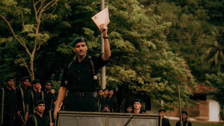 Marwan Kenzari als kapitein Raymond, alias 'de Turk'. Beeld Milan van Dril