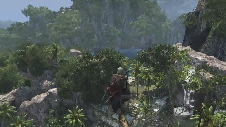 Ook in de nieuwste 'Assassin's Creed' kan je een 'leap of faith' uitvoeren Beeld kos