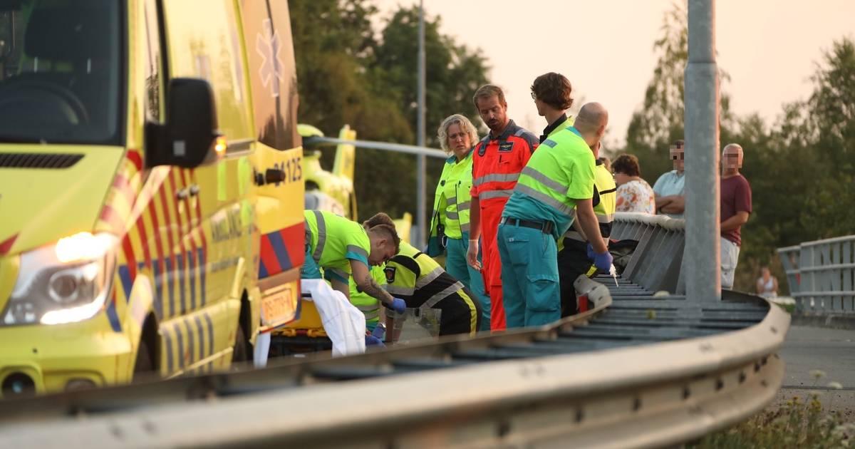 Motorrijder verongelukt op Nistelrodeseweg in Uden.
