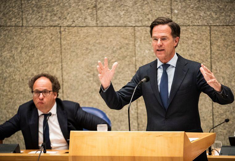 Als Rutte de Kamer niet kan overtuigen van zijn nieuwe 'ik' kan hij zijn gedroomde vierde kabinet wel vergeten. Beeld Freek van den Bergh / de Volkskrant