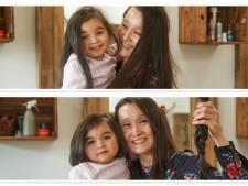Nora Mae (3) is jongste haardonor óóit: met haar allereerste kappersbezoek helpt ze meteen een ziek kindje