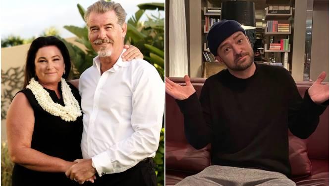 CELEBS 24/7. Pierce Brosnan viert zijn porseleinen huwelijk en welke emoji doet Justin Timberlake na?