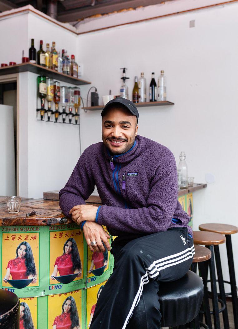 Moktar Nabil (26) van Garage Noord. Beeld Nina Schollaardt