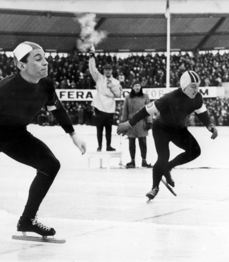 Schaatslegende Henk van der Grift in Westlands museum
