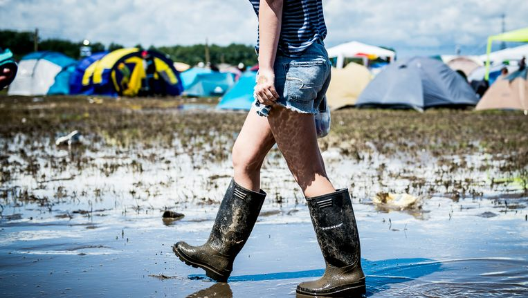 Het was een modderige bedoening vorig jaar op de camping van Rock Werchter.