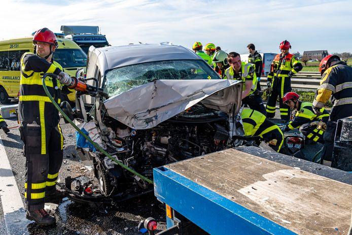 Dodelijk ongeval A59 Raamsdonksveer.