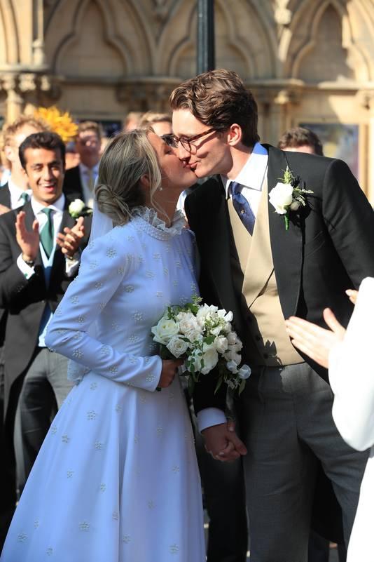 Ellie Goulding et Caspar Jopling le jour de leur mariage.