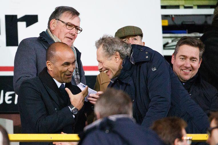 Vorige maand gespot op de tribune van Club: de huidige bondscoach en zijn gedroomde opvolger. Beeld BELGA