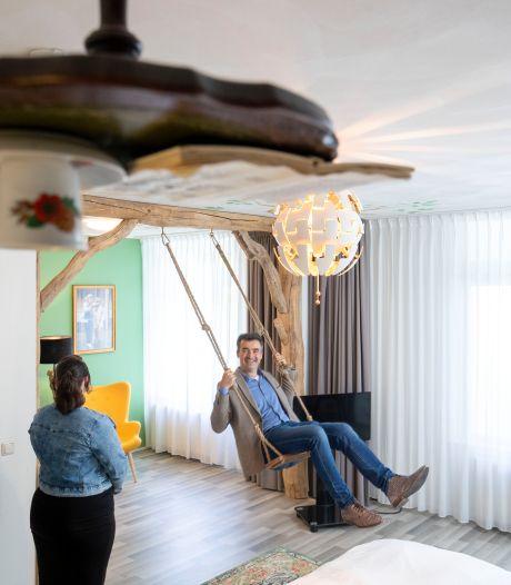 Een schommel in de hotelkamer: alles staat in het teken van vrijheid in vernieuwde Hotel De Wereld