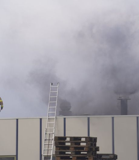 Brand op bedrijventerrein bij Hasselt onder controle; aanzienlijke schade aan inventaris