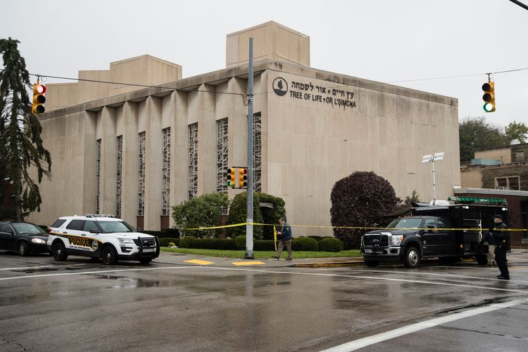 The Tree of Life Synagogue in Pittsburgh.  Beeld AP