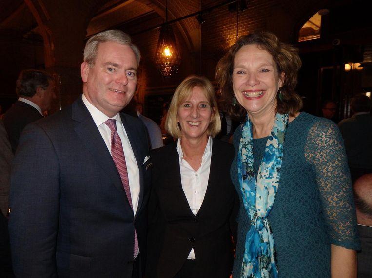 Marcel Schonenberg (Beurs van Berlage), Marjolein van Veenendaal (Coster Diamonds) en Marja van Reijn (Royal Delft):