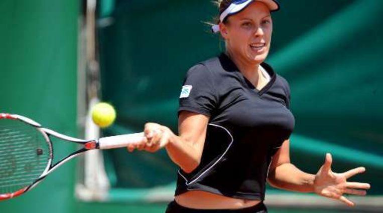 Andreja Klepac klopte de Kroatische Sprem in drie sets. Beeld UNKNOWN