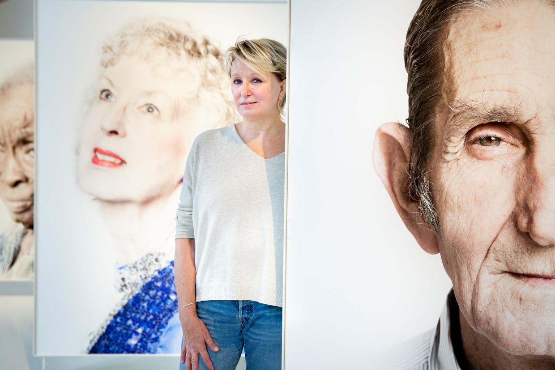 Fotografe Lieve Blancquaert op haar tentoonstelling in Gent.  Beeld ©Lieve Blancquaert
