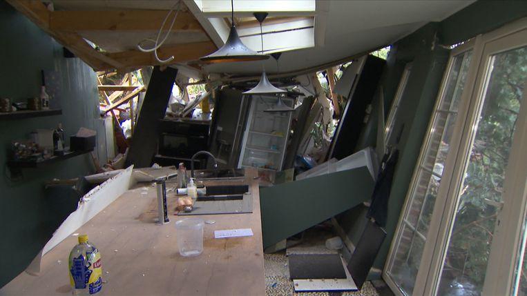 huis vernield door storm