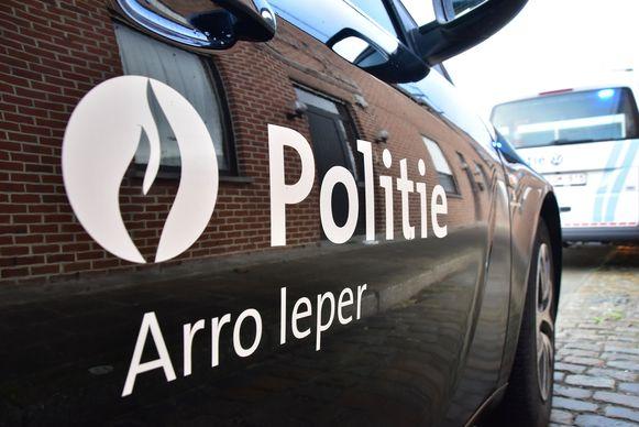De politie van de zone Arro Ieper kwam ook ter plaatse