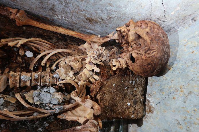 De opmerkelijk goed bewaarde resten.