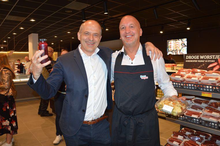 Zaakvoerder Geert Ally en regiomanager Franky Groeninckx.