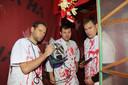 Sam Clauw, Bjorn Desmijter en Tom Clauw namen het initiatief voor het spookhuis.
