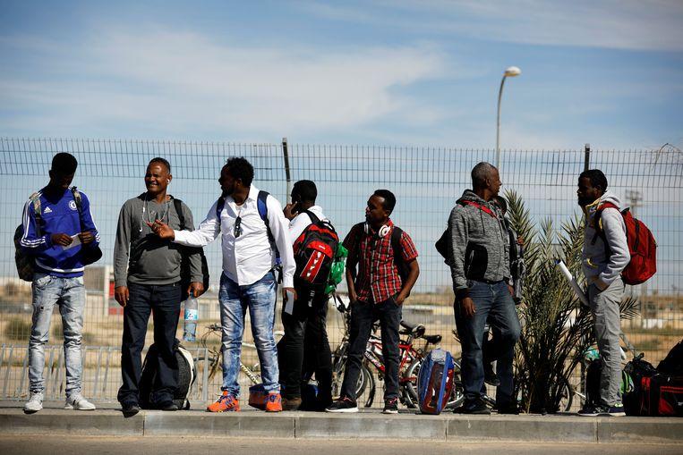 Afrikaanse migranten in Israël Beeld REUTERS