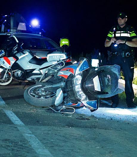 Motoragent ernstig gewond na ongeval in Rijnsaterwoude