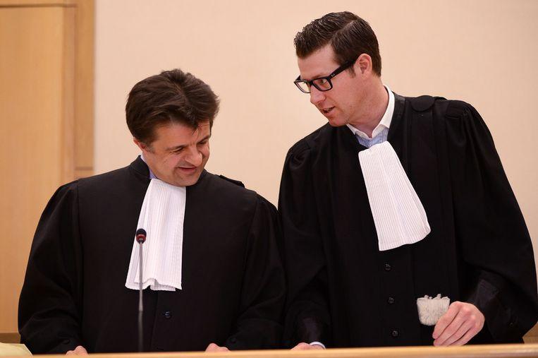 Advocaten van de verdediging Ronald Wijnen en Francis Mens. Beeld BELGA