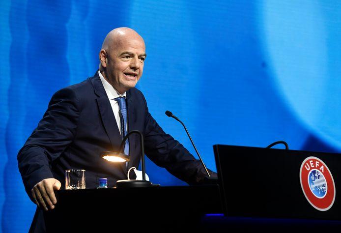 Gianni Infantino tijdens een UEFA-congres.
