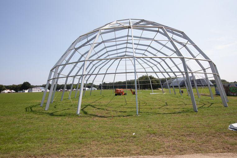 De opbouw van Pukkelpop was al gestart, maar het festival gaat dan toch niet door. Beeld Mine Dalemans