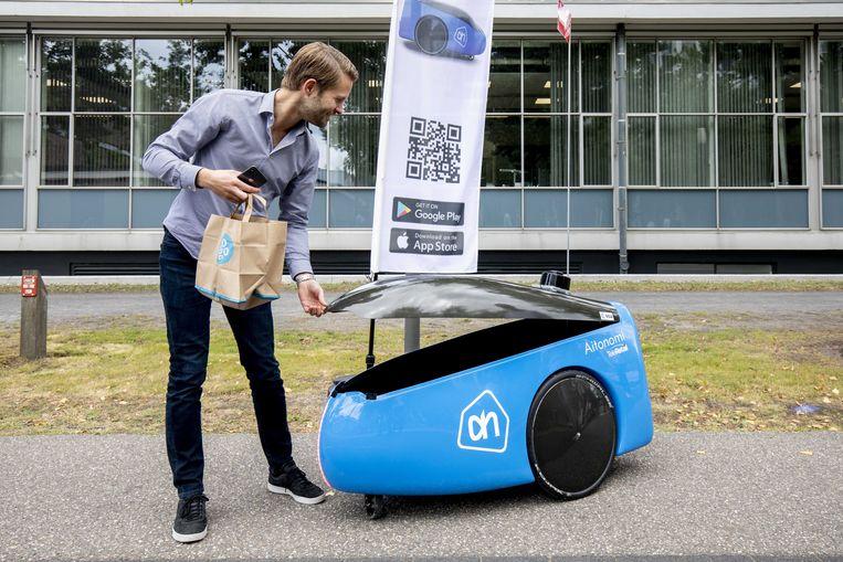 De High Tech Campus in Eindhoven. Albert Heijn laat hier boodschappen bezorgen door een robot. Beeld ANP