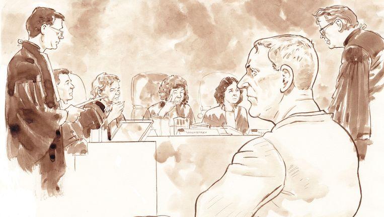 Dick Vrij in november in de rechtszaal. Beeld anp