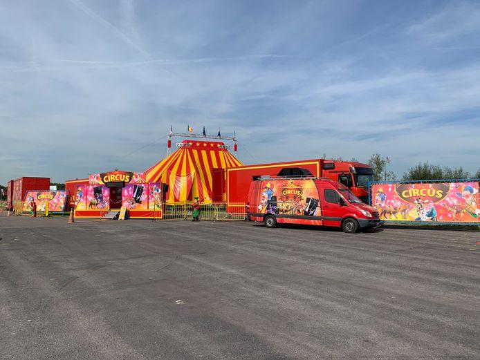 Circus Pepino stelt zich op in Grimbergen