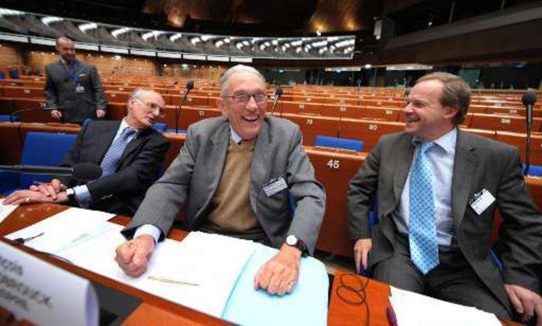De drie niet benoemde burgemeesters gingen gisteren in Straatsburg hun zaak bepleiten. Beeld UNKNOWN