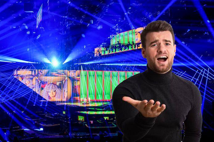 Een repetitie van San Marino voor de halve finale van het Eurovisie Songfestival. Inzet: Robin Frings.
