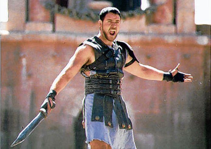 Russell Crowe als generaal Maximus in Gladiator.