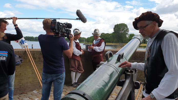 Een foto tijdens de opnames van het programma Klaas kan Alles.