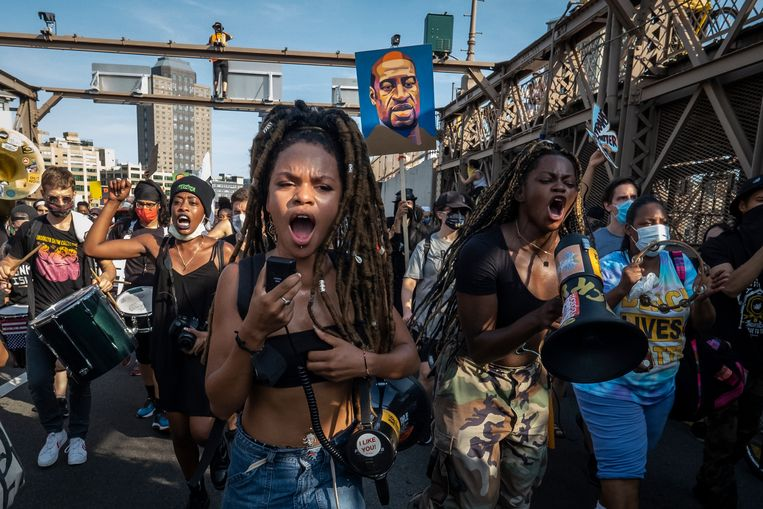 Protest in Brooklyn, New York. Beeld Corbis via Getty Images