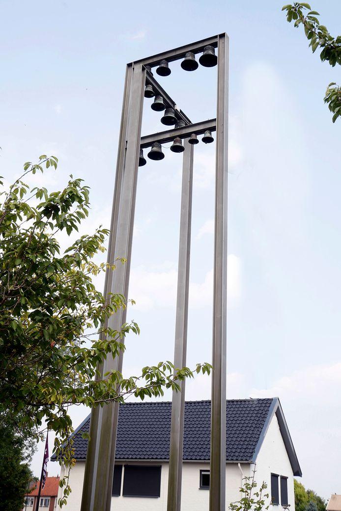 Het carillon bij het voormalige gemeentehuis.