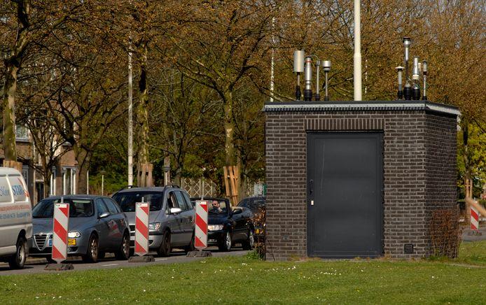Meetstation voor de luchtkwaliteit van het Rijksinstituut voor Volksgezondheid en Milieu in Rotterdam.