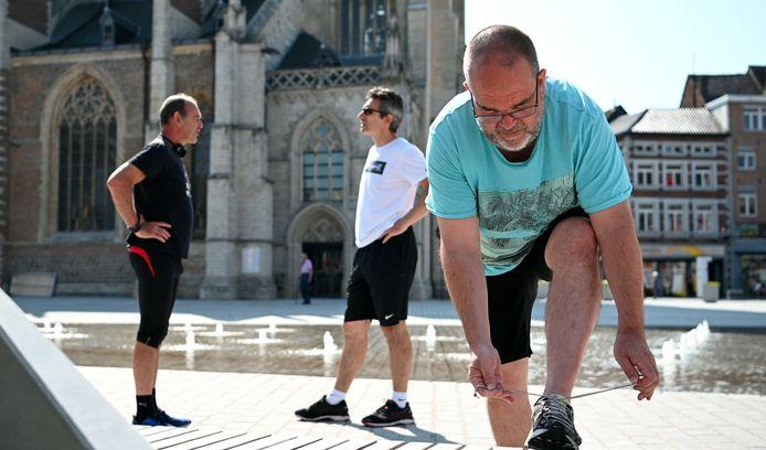 De Truiense Monumentenrun zal dan toch in september kunnen terugkeren. Schepen van Sport Jurgen Reniers (vooraan) zorgde al voor een voorproefje.