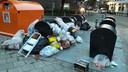 Milieuplein Hogeland in Enschede. Diftar afval