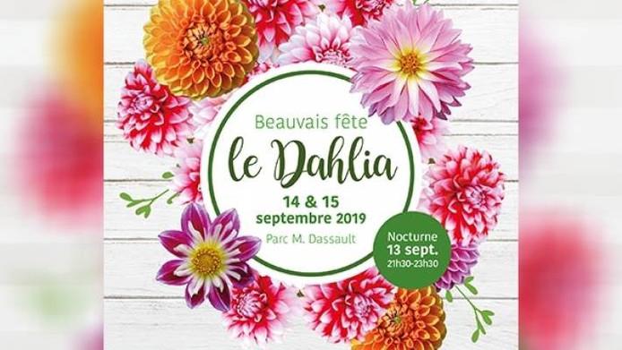 Affiche van Beauvais fête le dahlia.